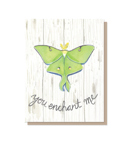 You Enchant Me Luna Moth Love & Friendship Card