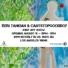 "Serj Tankian and CANTSTOPGOODBOY Announce ""Marbelized Words"" Art Exhibit"