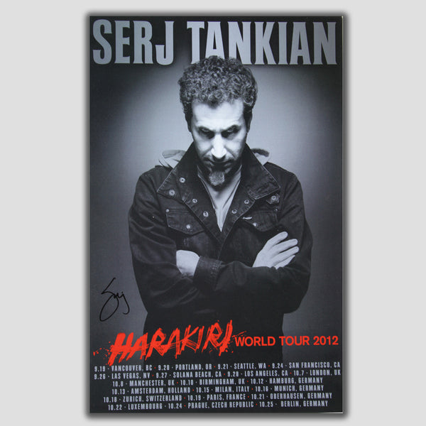 Harakiri World Tour Poster - Autographed