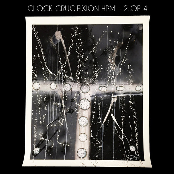 Clock Crucifixion - Hand Painted Multiple