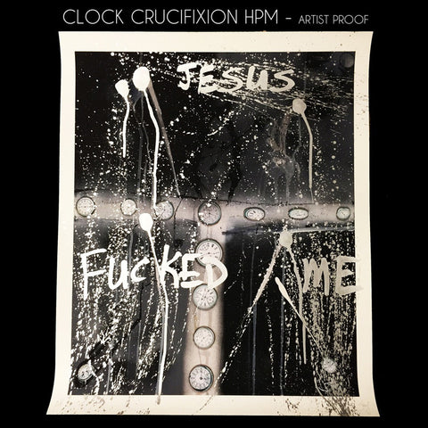 Clock Crucifixion - Hand Painted Artist Proof