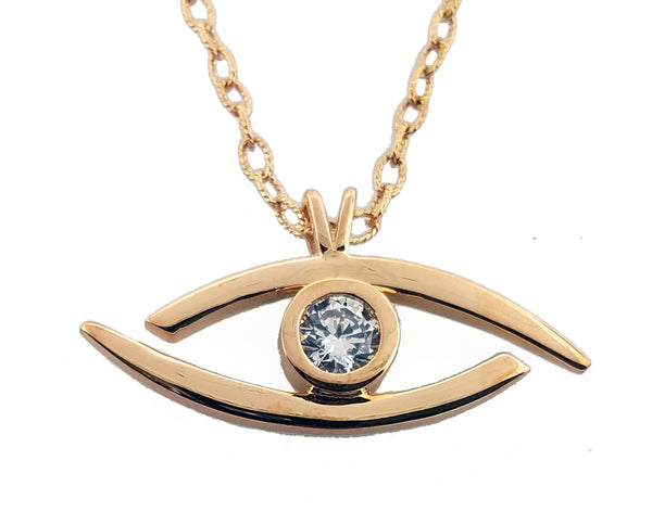 "All Seeing Eye"" - Pure Silver Pendant Dipped In 18K Rose Gold - (Elect The Dead Inspired) w/Autographed Jewelry Box"