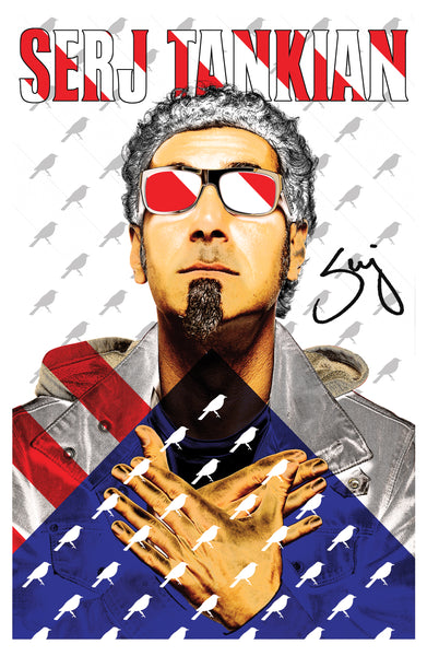 Serj and Stripes Promotional Poster - Autographed