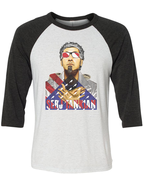 Men's | Patriotic | 3/4 Sleeve Baseball Tee