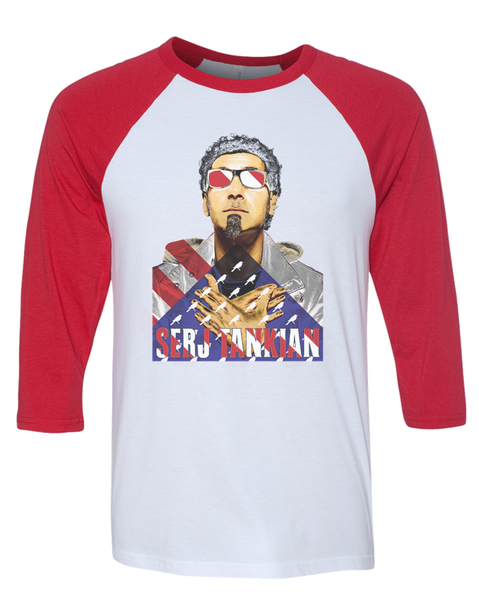 Women's | Patriotic | 3/4 Sleeve Baseball Tee