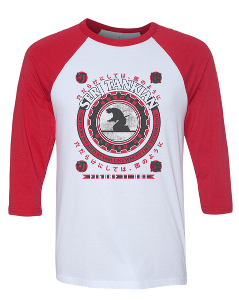 Men's | Samurai Seal | 3/4 Sleeve Baseball Tee