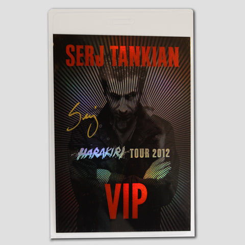 Autographed VIP Tour Laminate - Harakiri World Tour 2012