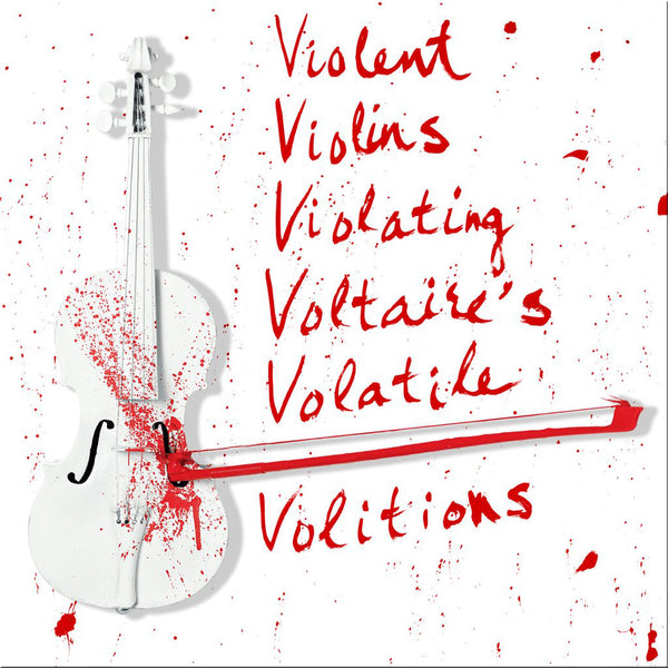 Violent Violins - Hand Painted Multiple - 2018 Limited Edition - Red Only Version