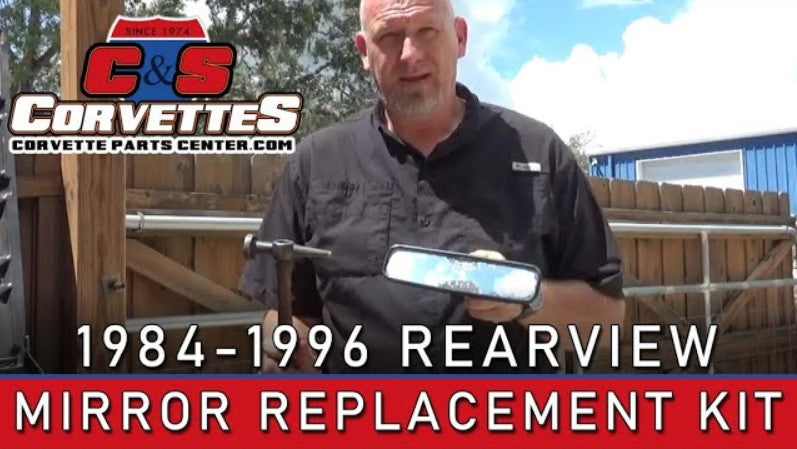 Corvette Rearview Mirror Replacement Kit, 1984 -1996