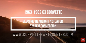 C3 Electric Headlight Actuator Conversion