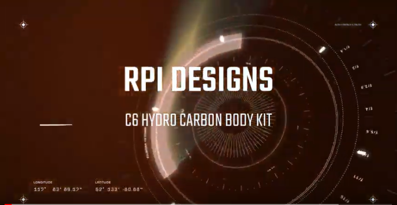 RPI DESIGNS C6 CORVETTE HYDRO CARBON BODY KIT