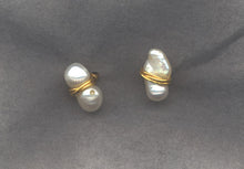 Biwa Studs with 22k wrap