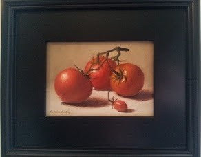 Tomatoes--Oil on Canvas by Natalia Clarke--12 x 12