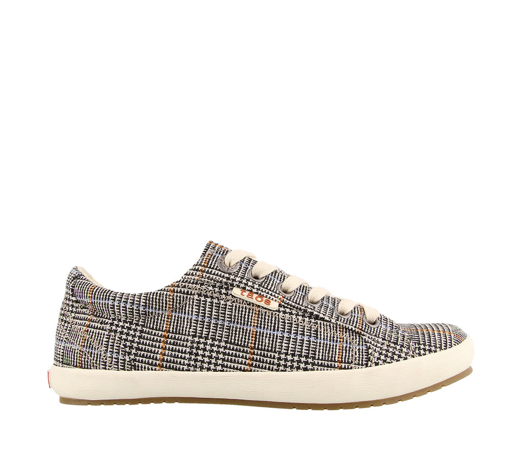Star (Prints)-Footwear-Taosfootwear.ca-Black Plaid-6-Taos Footwear Canada