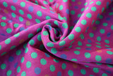 Bandolera Polka Dot Ultra Purple Green Tencel Modal