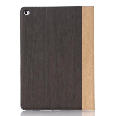 iPad Air 2 Wood Finish Flip Smart Case - Black Brown - LUMBERCASE