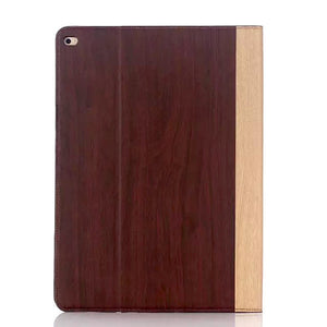iPad Pro 9.7 Wood Finish Flip Smart Case - Cherry - LUMBERCASE