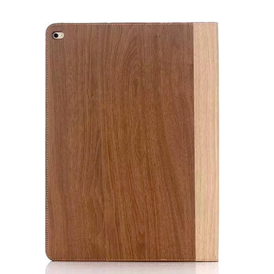 iPad Pro 12.9 Wood Finish Flip Smart Case - Chestnut - LUMBERCASE