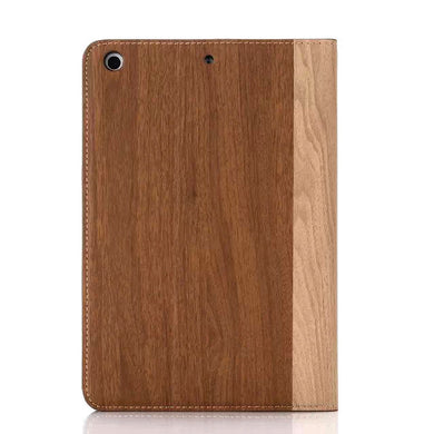 iPad mini Wood Finish Flip Smart Case - Chestnut - LUMBERCASE