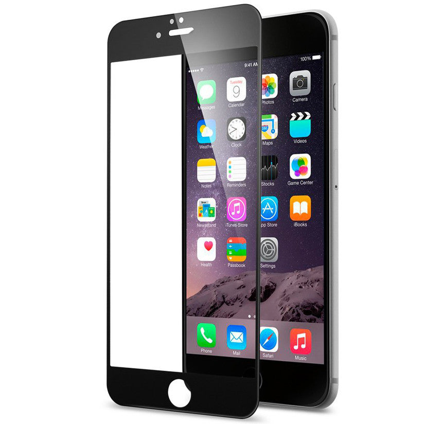 iPhone Full Screen Tempered Glass - Black - LUMBERCASE