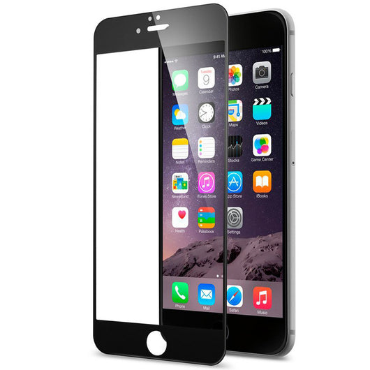 iPhone 6 / 6S Full Screen Tempered Glass - Black - LUMBERCASE Canada