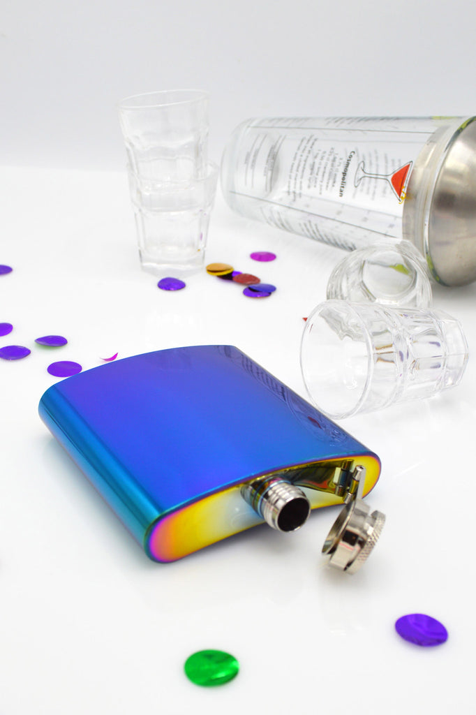 Iridescent Hip Flask