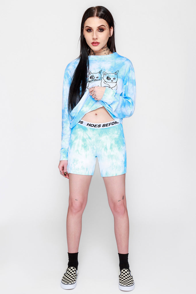 Sky High Tie Dye Cycling Shorts