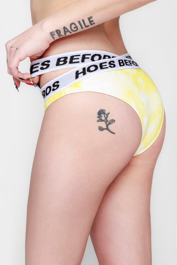 Banana Tie Dye Rib Brief