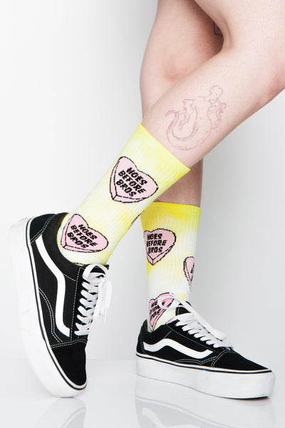 Candy Hearts Tie Dye Socks