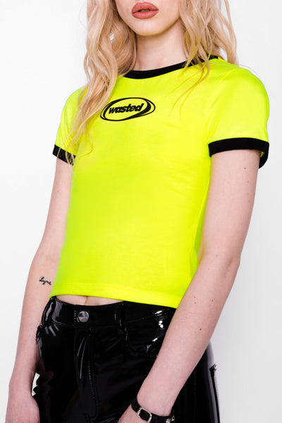 Acid Yellow Ringer Tee