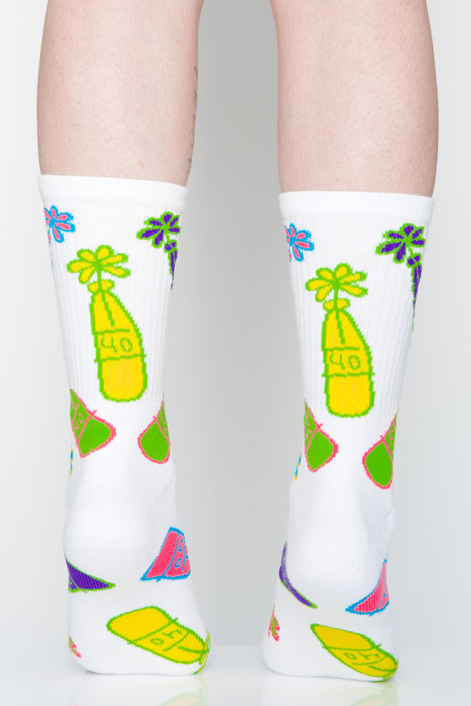 Flower Bottle Socks