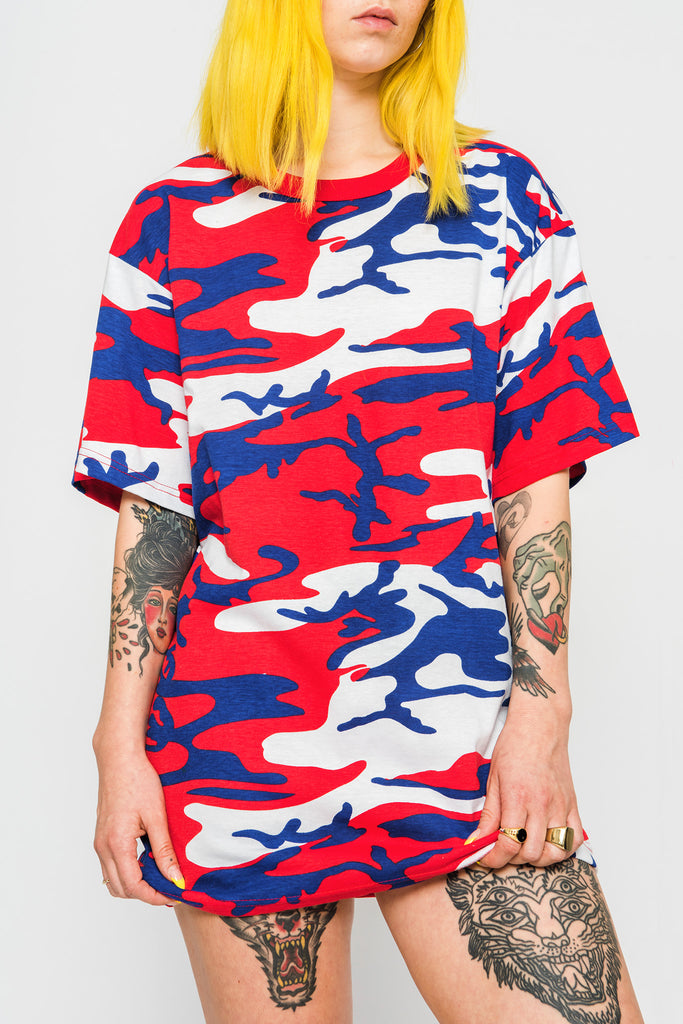 Red White & Rude Camo T-Shirt