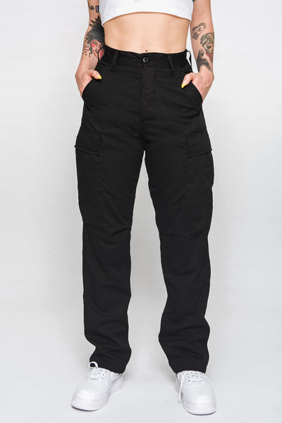 Avril Black Cargo Pants