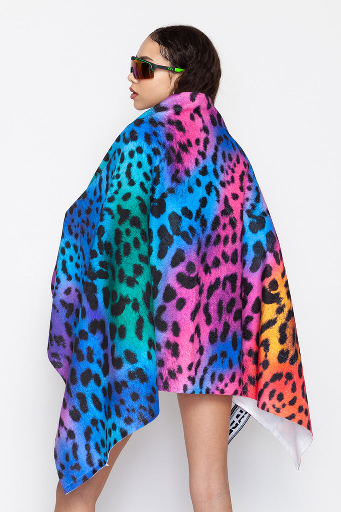 Rainbow Leopard 2 in 1 Towel Bag