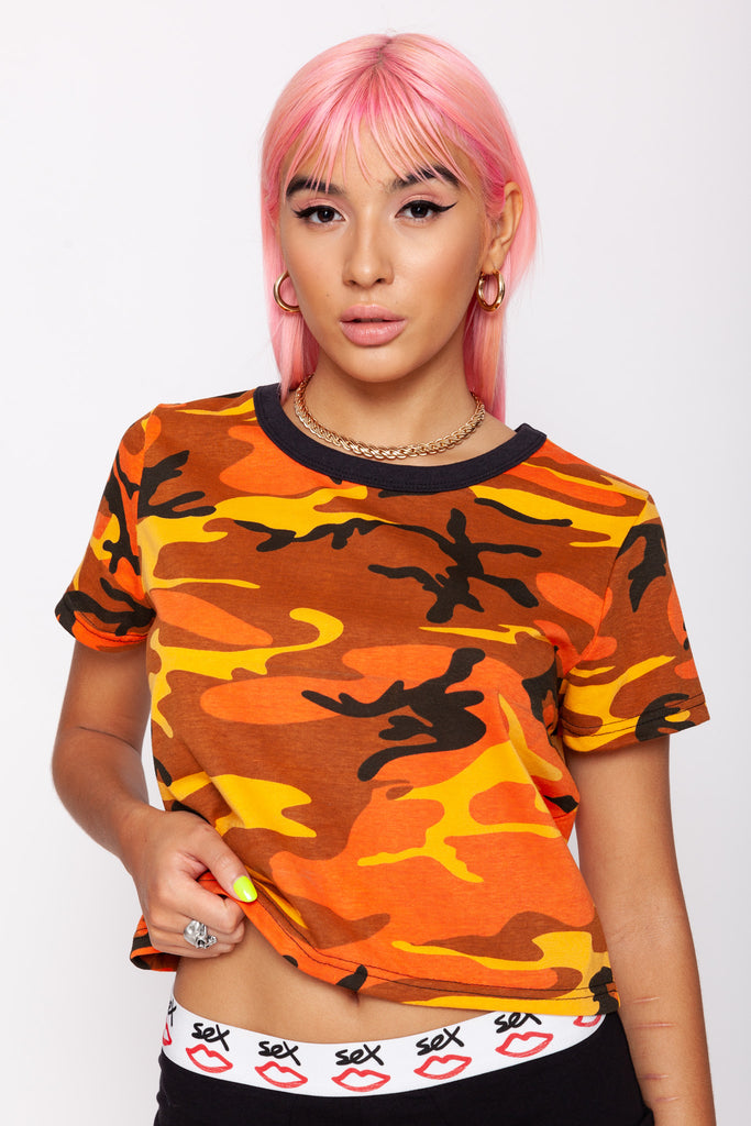 Savage Camo Crop Tee