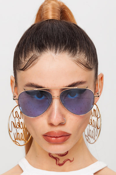 Deep Waters Aviator Sunglasses
