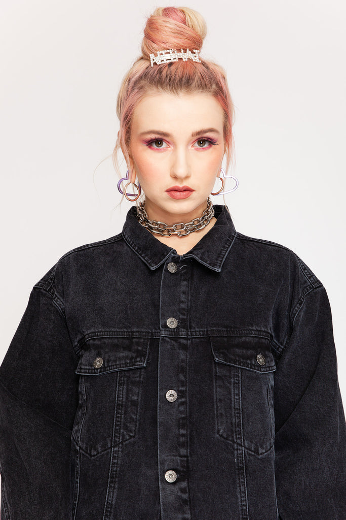 Buddy Denim Jacket Charcoal
