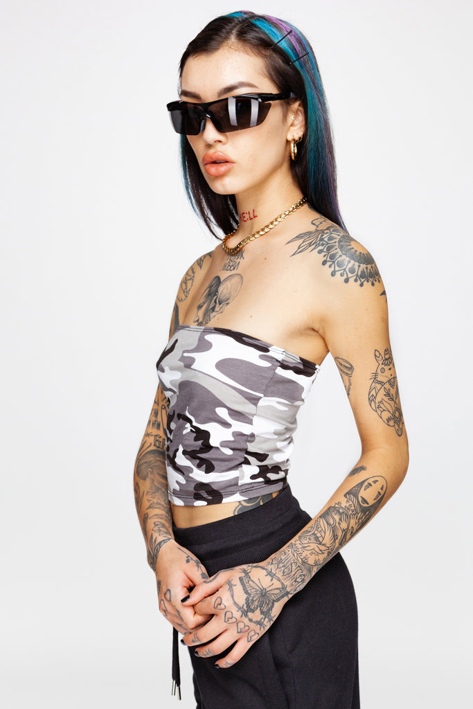 City Camo Tube Top