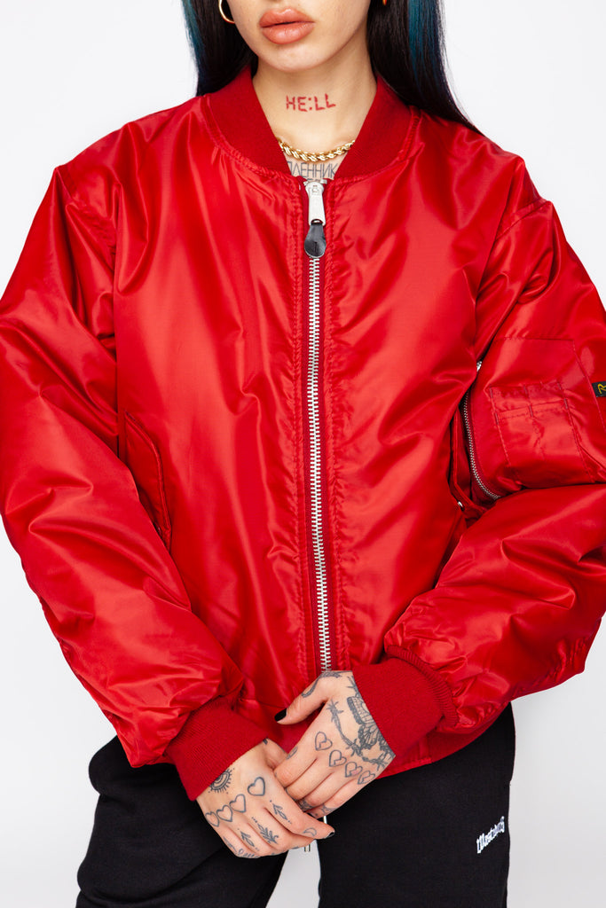 Fuego Red MA-1 Flight Jacket