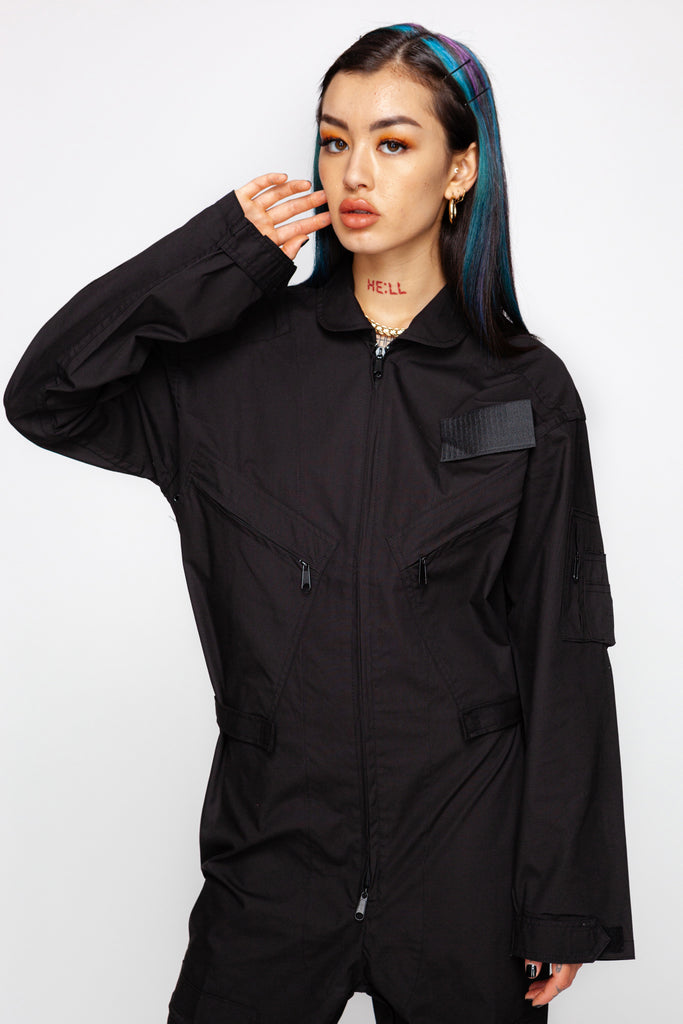 Boiler Room Black Cargo Flightsuit