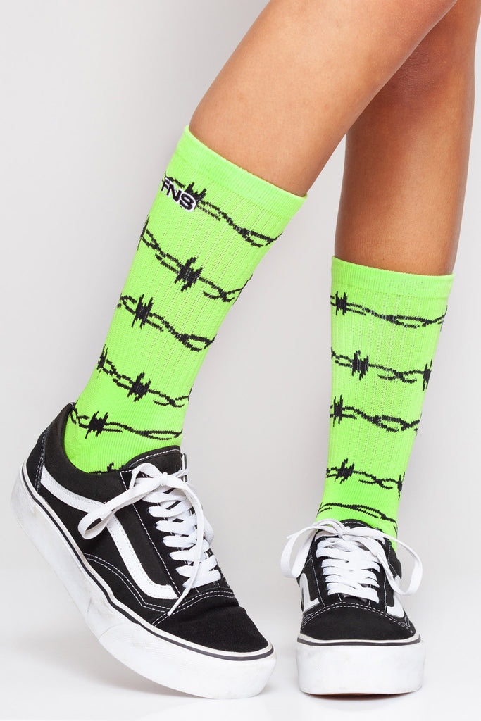 Wired Socks Neon Green