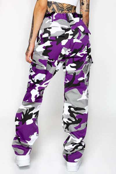 Purple Swag Camo Cargo Pants