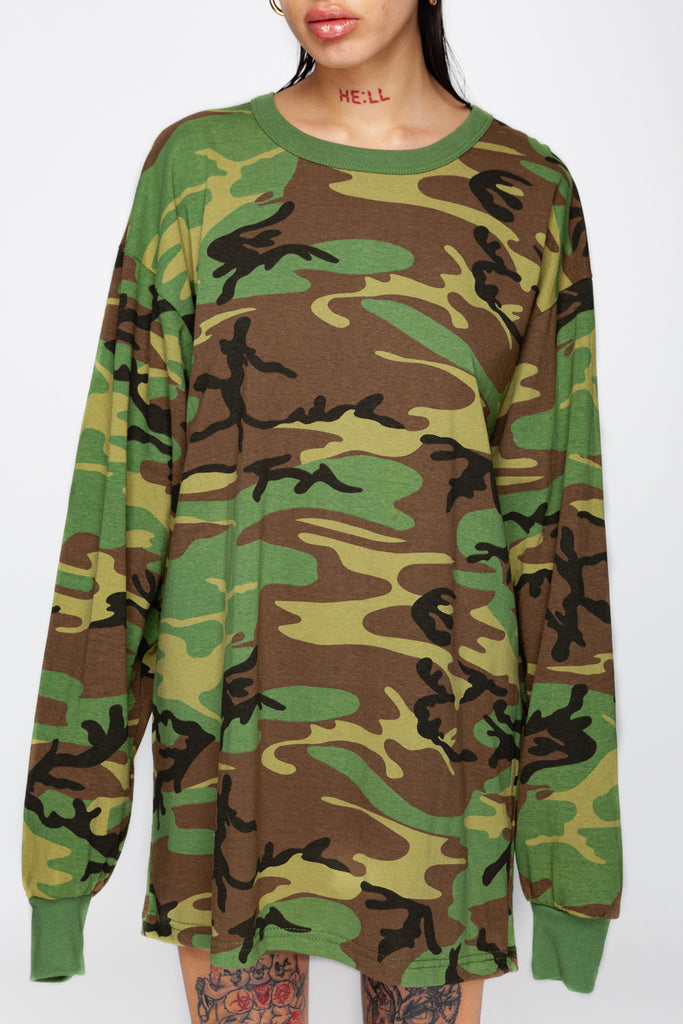 Issa Vibe Camo Long Sleeve Tee