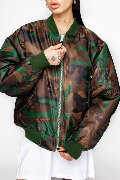 Can't Be Hidden Camo MA-1 Flight Jacket