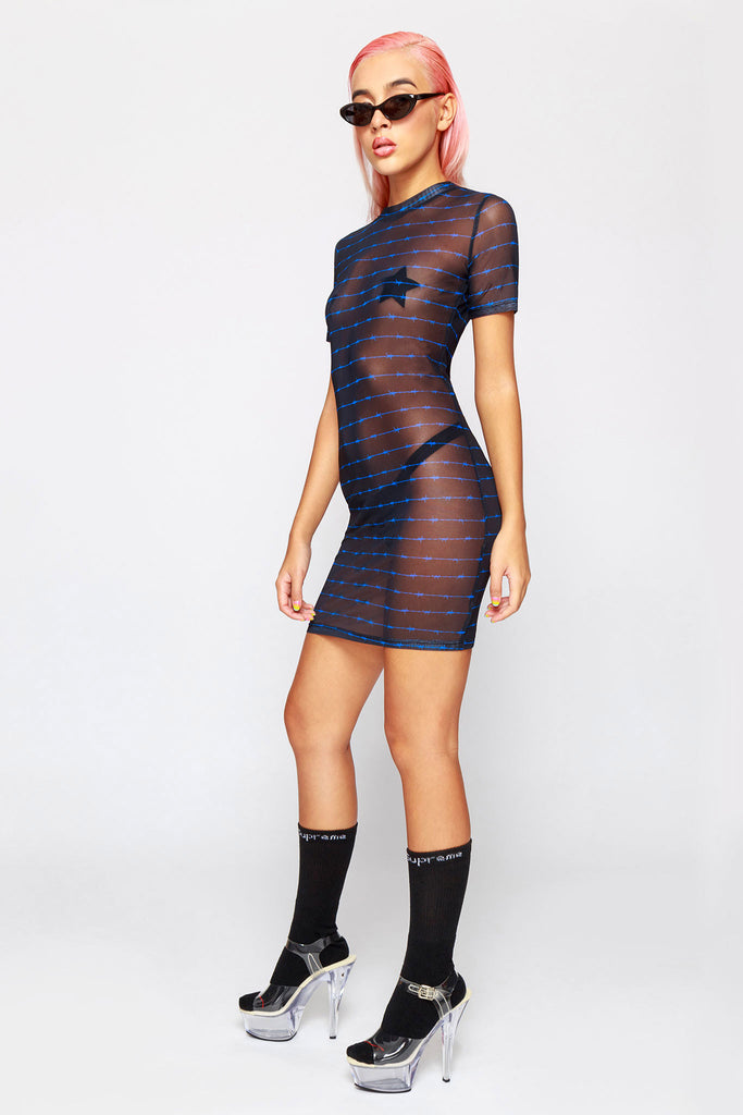 90's Barbwire Mesh Dress
