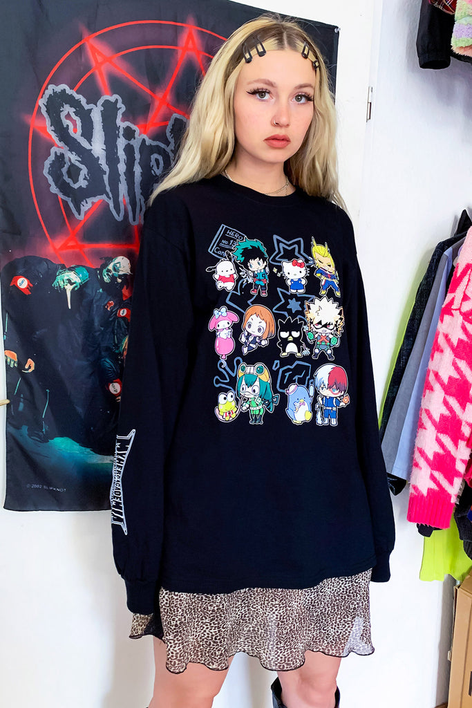 Hello Kitty & My Hero Academia Long Sleeve Tee