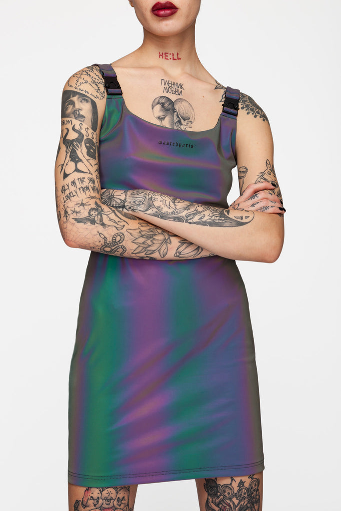 Reflective Buckle Dress