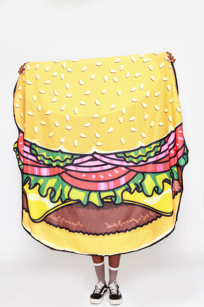 Burger Beach Towel