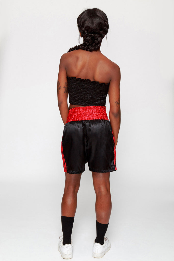 Slay & Pray Satin Boxing Shorts