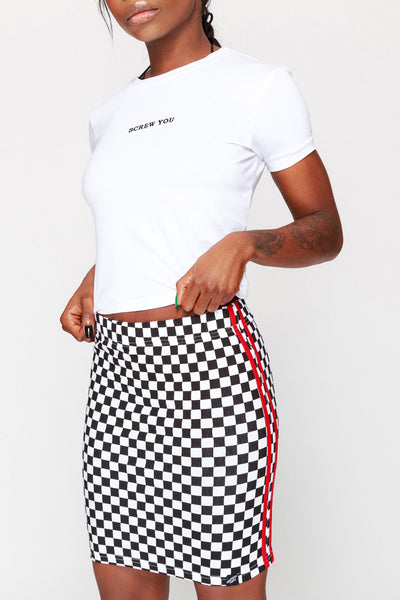 Checkerboard Mini Skirt